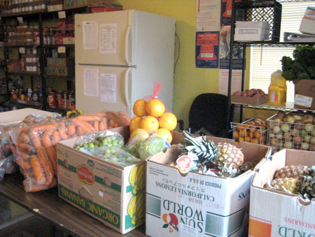 Green Door's food pantry